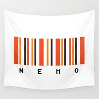 nemo Wall Tapestries featuring Nemo by Vector Vectoria