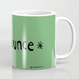 Flounce - green background Coffee Mug