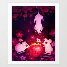 One Strawberry Art Print