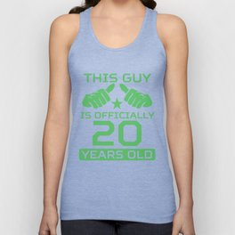 This Guy Is Officially 20 Years Old 20th Birthday Unisex Tank Top