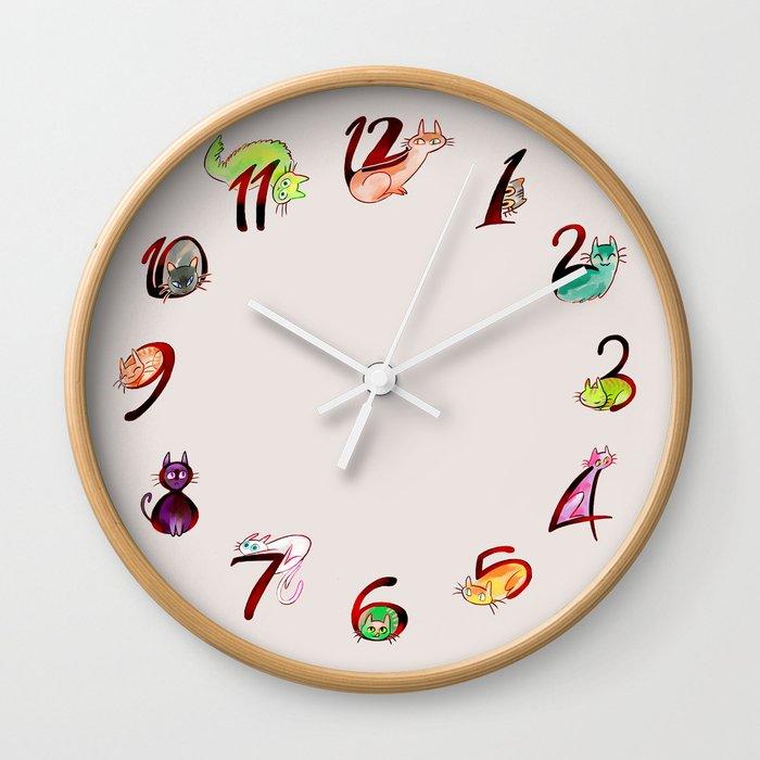 12 cats Wall Clock