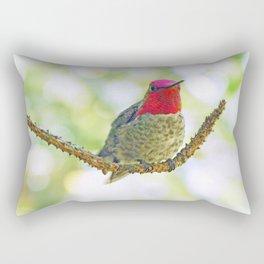 Anna's Hummingbird on a Twig Rectangular Pillow