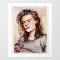 coconutwishes Art Prints featuring Harry watercolors III by Coconut Wishes
