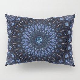 Dark and light blue mandala Pillow Sham
