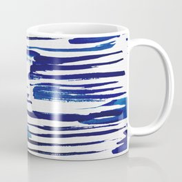 Shibori Paint Vivid Indigo Blue and White Coffee Mug