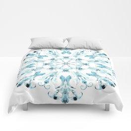 Filigree in faded blues Comforters