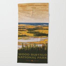 Wood Buffalo National Park Beach Towel