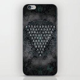 Abracadabra Reversed Pyramid in Charcoal Black iPhone Skin