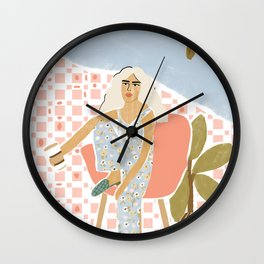 Coffee a day keeps the stress away Wall Clock