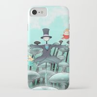 studio ghibli iPhone & iPod Cases featuring Studio Ghibli Jumping by Whimsette
