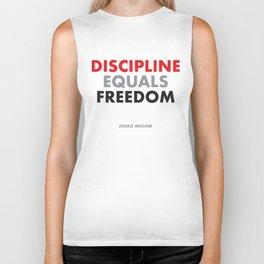 """""""Discipline Equals Freedom"""" Jocko Willink Biker Tank"""