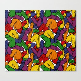 Schlong Song in Rainbow, All the Penis! Canvas Print