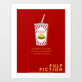 Pulp Non-Fiction Minimalism Art Print