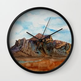 The Superstition Mountains Wall Clock