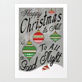 Christmas Typography Poster Art Print