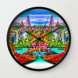 koh phangan zagi art view Wall Clock