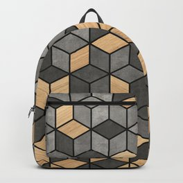 Concrete and wood cubes Backpack