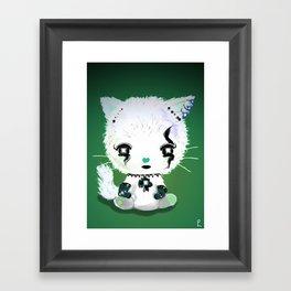 Punky Persian - Dark Green Framed Art Print