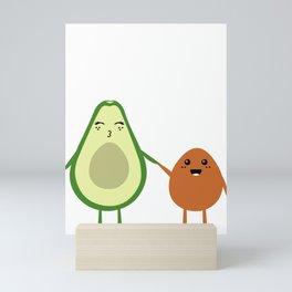 AVOCADO MOMMY AND AVOCADO KID Mini Art Print