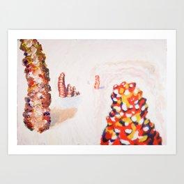 Still from painted Animation - Zobeide Art Print