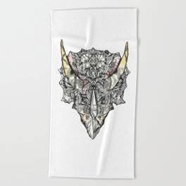 Triceratops Beach Towel