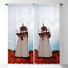 Lighthouse on Red Sands Blackout Curtain