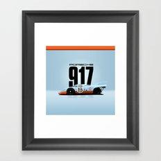Porsche 917-026 Gulf Racing Framed Art Print