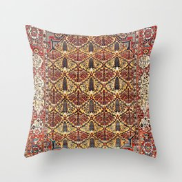 Heriz Azerbaijan Northwest Persian Silk Rug Print Throw Pillow