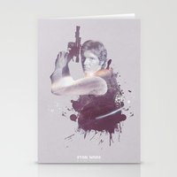 han solo Stationery Cards featuring Han Solo by Diego Rodriguez