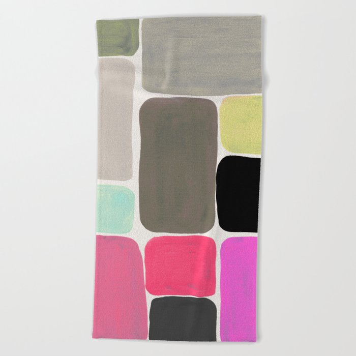 colour + pattern Beach Towel
