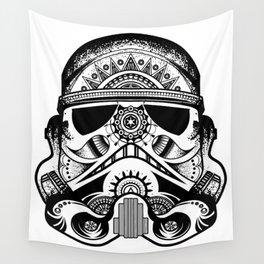 Mandala Stormtrooper - Black. A loyal solider.  Wall Tapestry