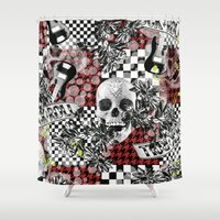 50s Shower Curtains featuring 50s rock n roll by Mickaela Correia