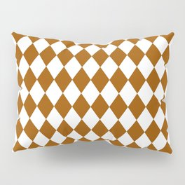 Rhombus (Brown/White) Pillow Sham