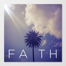 Palm Tree Faith Canvas Print