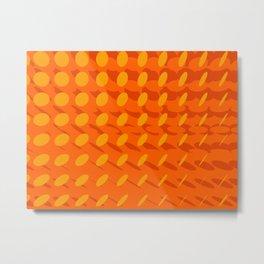 elipse grid pattern_orange Metal Print