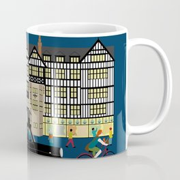 Art Print of Liberty of London Store - Night with Black Cab Coffee Mug