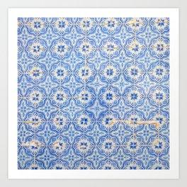 Lisbon tiles Art Print