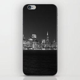 SF at as night seen from Treasure Island iPhone Skin
