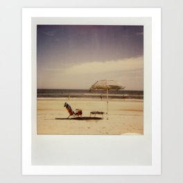 Beach Umbrella - Polaroid Art Print