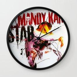 STAB SINGLE - COVER ARTWORK Wall Clock