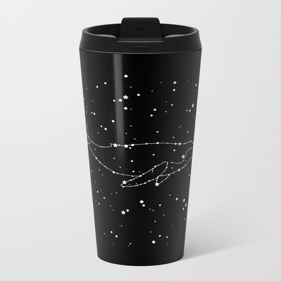 Whale Constellation Metal Travel Mug