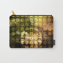 MELANGE WITH A CLOCK Carry-All Pouch