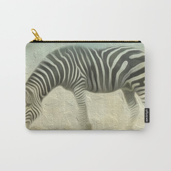 Zebra grazing Carry-All Pouch