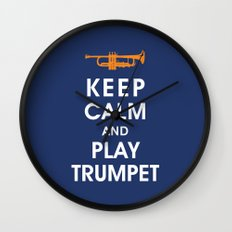 Keep Calm and Play Trumpet Wall Clock