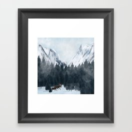 By My Side Framed Art Print