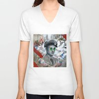 soldier V-neck T-shirts featuring The Forgotten Soldier by FAMOUS WHEN DEAD