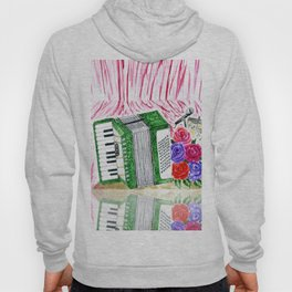 Accordion with roses Hoody