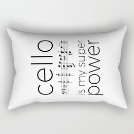 Is cello your super power? (white) Rectangular Pillow