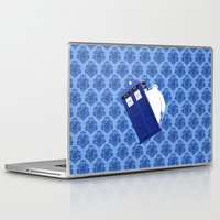 baymax Laptop & iPad Skins featuring Tardis - BAYMAX by Raisya