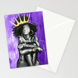 Naturally Queen IX PURPLE  Stationery Cards